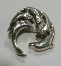 Sterling silver 925 DOLPHIN Pin Brooch