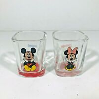 Disney Disneyland Mickey Minnie Mouse Shot Glass Set Square Disneyland Resort