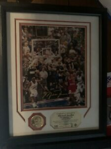 Michael Jordan Framed Photo And Coin