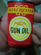 Vintage Winchester New Gun Oil Lead Top 3 Fl. Oz. Tin / Can Oval.Over 50%Full!