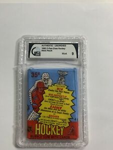 GAI Graded Pack 1985 O-Pee-Chee Hockey WAX PACK OPENED WITH ALL CARDS AND GUM