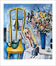 "CHARLES BLACKMAN ""Alice On The Table"" Printers Proof Print PP 32cm x 28cm"