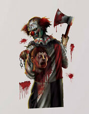 HALLOWEEN CREEPY CARNIVAL KILLER CLOWN wall stickers MURAL 5 decals axe head