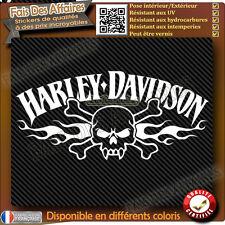 sticker autocollant harley davidson iron tribal skull sportster réservoir moto