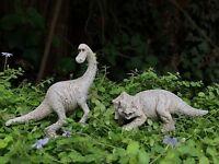 Miniature Dollhouse FAIRY GARDEN ~ Mini Trixie & Dino Dinosaur Figurines Set / 2