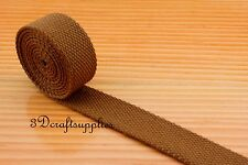 5 yards 1 inch polyester-mixed cotton webbing key fob strap ZB43