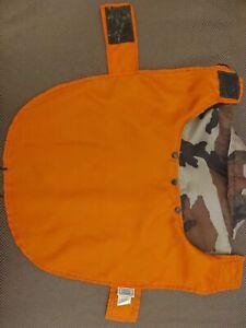 Casual Canine Camo Raincoat w/Detachable Hood, Small ,Safety Orange Lining