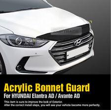47_Smoke Acrylic Bonnet Guard Exterior Molding for HYUNDAI 2017-2018 Elantra AD