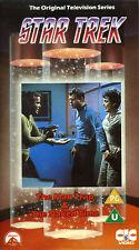 """STAR TREK: """"The Man Trap & The Naked Time"""" auf VHS in Englisch - TOS - RAR! -"""