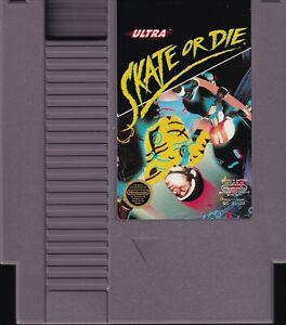 SKATE OR DIE (1988) nes nintendo entertainment system konami us NTSC USA IMPORT