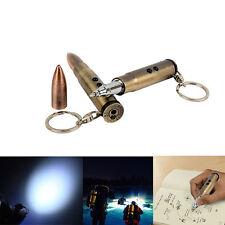 New Outdoor Life-saving Bullet Shape Keychain Light Hammer Ballpoint Pen EDC
