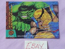 94 Fleer Ultra Wolverine vs Hulk 140 Greatest Battles X-Men Trading Card HS
