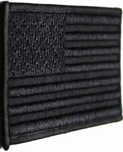USA AMERICAN FLAG TACTICAL US MORALE MILITARY Covert BLACK OPS HOOK FASTEN PATCH
