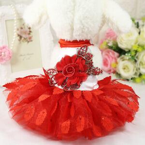 New Pet Puppy Small Dog Lace Princess Tutu Dress Skirt Clothes Apparel Costume