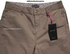 New Womens Marks & Spencer Per Una Beige Slim Bootcut Jeans Size 24 Medium