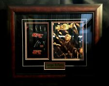 Georges St. Pierre Framed Autographed Glove & PIcture w COA
