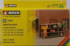 NOCH 14203 Industrial Shelves (Laser Cut kit) 00/HO Gauge Model Railway