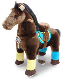 PonyCycle Kids Manual Ride on Chocolate Brown Horse Medium 4-9 Years NEW