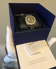 Swarovski Crystalline Oval Watch Silver Tone Stainless Steel 5181008 New In Box