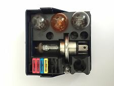 H4 12V60/55W Spare Kit Set with Signal, Brake, Position and Blade Fuse.