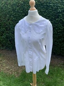 vintage laura ashley white blouse