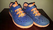Stride Rite Made 2 Play Phibian Navy Blue & Orange Shoes Boy Size 3 Euc