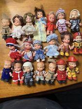 Huge Lot 20 Uneeda Pee Wee Pocket Dolls 1966-76