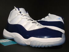 sale retailer a3ff9 69a94 NIKE AIR JORDAN XI 11 RETRO WIN LIKE 82 WHITE UNIVERSITY BLUE NAVY 378037- 123