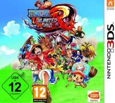 Nintendo 3ds One Piece Unlimited World Red sombrero de paja alemán como nuevo
