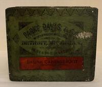 VINTAGE PARKE DAVIS & CO Choice Botanic Drugs Tin SKUNK CABBAGEROOT - Detroit