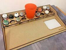 HobbyBench and  Paint Storage Rack 16 pots Suit GW Citadel Foundry RIGHT HAND
