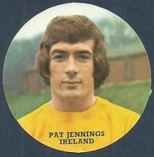 FKS 1972/73 Adesivo Circolare - # H-Irlanda del Nord & Tottenham-Pat JENNINGS