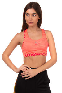 PUMA PWRSHAPE FOREVER Sports Bra Size S DryCell Patterned Fully Lined Racer Back