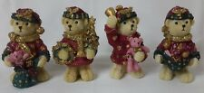 Christmas Bears Xmas Decoration. Gift Ornament - Set of 4