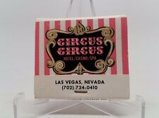 Circus Circus Hotel and Casino and Spa Las Vegas Matchbook Unstruck