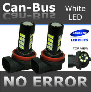 Samsung H11 Canbus 42 LED Super White Direct Replace Fog Light Halogen Bulb X102