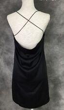 Sexy Backless Mini Dress, Black, Size 8-10, Silk Blend