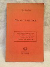 Alex Hamilton - Beam of Malice - Uncorrected Proof 1966 - Horror, Ferret Fantasy