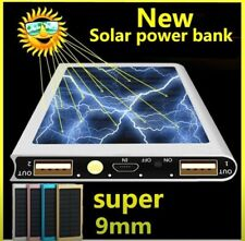 Portable 10000mAh Solar Charger Power Bank Dual USB LED External Battery