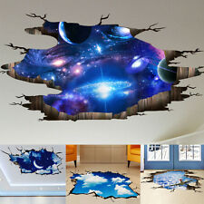 DIY 3D Floor Wall Sticker Removable Mural Decals Vinyl Art Living Room Decors U0