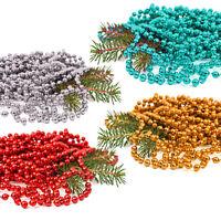 Christmas Xmas Metallic Bead Garland 8m x 8mm Selection Tinsel Tree Decorations