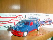 RENAULT 5 MAXI-TURBO 1985 1:43 RED-BLUE #3