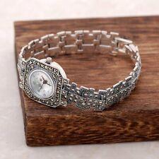 Turkish Handmade 925 Sterling Silver Marcasite Ladies Wristwatches PE 02