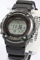 W-S200H-1B Black Casio Watch Solar Power Stopwatch Lap Memory 120 WS-200H-1B New