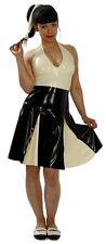 100% Latex Rubber Gummi Dress 0.45mm Skirt Catsuit Suit Uniform Party Deluxe
