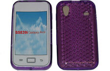For Galaxy Ace GT S5839i S5830i Gel Jelly Soft Case Protector Cover Purple New