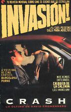 James SPADER Crash David CRONENBERG special 12 pages Sci-Fi INVASION Magazine