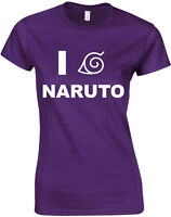 I Love Naruto, Anime Naruto Inspired Ladies Printed T-Shirt
