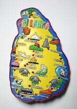 Souvenir Sri Lanka Map 3D Rubber Fridge Magnet Ceylon gift