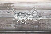 "Glass Grasshoppers Animal Figurine, Handmade Hand Blown Art Glass Figure 4"""